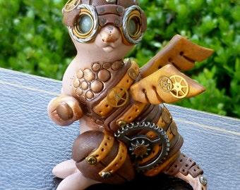 Aero - Steampunk Dragon Pal Sculpture