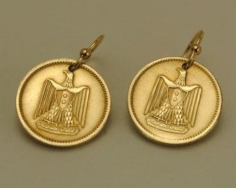 Egypt Coin Earrings 1960