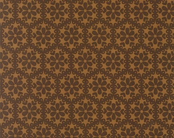 Stitch Organic Monohexies Brown - One yard