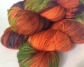 Pumpkin Spice--100 % Superwash Merino fingering