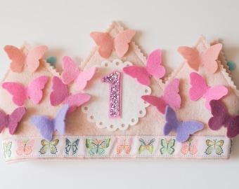 Butterfly Crown, Butterfly Birthday Crown, Butterflies Birthday, Girl Birthday, Butterfly Birthday, Baby Girl Birthday, Baby Girl