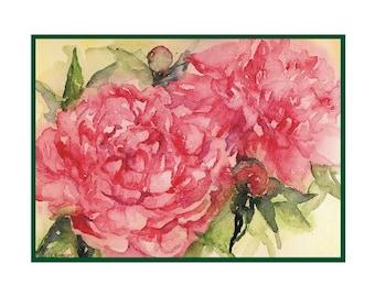 Watercolor Peony Notecards Note cards, Peony Print, Peony Art, Pink Peonies, Gift Box, Stocking Stuffers, Peony Lovers, Peonies