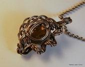 Smokey Quartz Facet & Silver Wire Wrapped Victorian Inspired Pendant