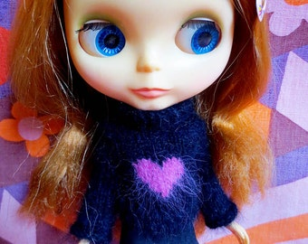 Blythe Valentine Heart Sweater and Skirt Set