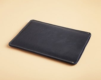 Laptop sleeve - Indigo blue leather - available in assorted colors