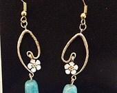 Forget me not Flower Jade earrings