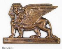 35mm Antique Brass Standing Sphinx #5433