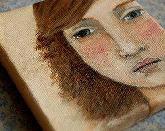 Original painting on mini canvas