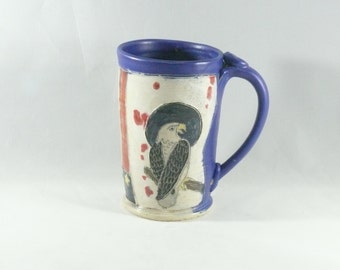 Best All American Ceramic Unique Military Coffee Mug with Eagle and Flag Stars Stripes - Teacup or Pottery Coffee Cup - Beer Tankard WM310