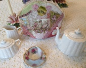 SALE Crazy Quilted Tea Cozy