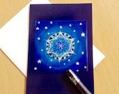 Flower of Life  Mandala  Greeting Card -  Blank Art Card-