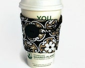 Fabric Coffee Cozy - Hot Drink Sleeve - Cold Drink Sleeve - Reusable Drink Sleeve - Eco Friendly - Appreciation Gift - Gift Idea Under 10