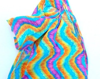 Doll Carrying Ring Sling - Toy Carrier - Doll Sling - Baby Doll Sling - Baby Doll Carrier - Doll Ring Sling - Toy Pouch - Swirly Rainbow