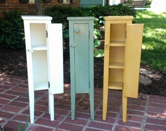 Petite Storage Cabinet, Bedside Table, Bathroom Storage, Plant Stand