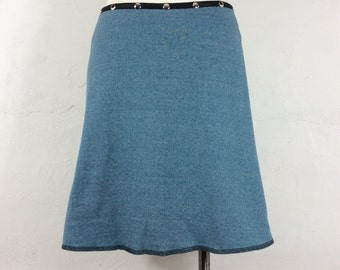 "Snap Around Skirt. ""Classic Sweatshirt Fleece"""