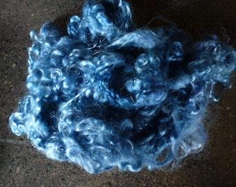 Bahama Blue Hand Dyed Kid Mohair Locks One Ounce