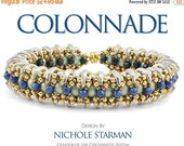 25% OFF Summer Sale NEW - Kit for Nichole Starman's Colonnade Bracelet CzechMates - Blue/Silver/Bronze Colorway - Kit Only