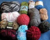mixed lot of yarn more than 2 and a half pounds  yarn destash