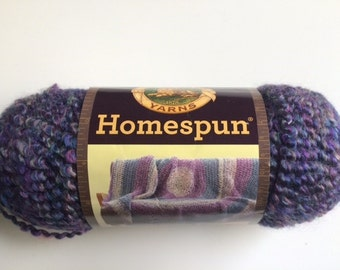 1 skein of Lion Brand Homespun yarn destash Barrington