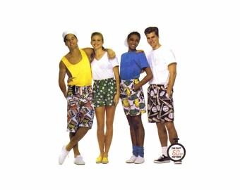 Misses Mens Teen Boys Unisex Boxer Shorts McCalls 6104 Sewing Pattern Hip 34 1/2 - 36 UNCUT