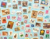 100 Postage Stamps - UK & Worldwide