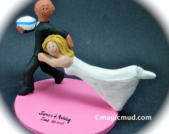 Interracial Wedding Cake Topper with Caucasian Bride, Interracial Wedding CakeTopper,Mixed Race Wedding CakeTopper,BiRacial Wedding Figurine