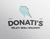 custom premade logo ++ ice cream shop gelato gelateria designer business label ++ modern hipster handmade design