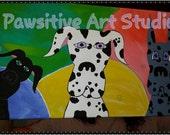 Original Acrylic Harlequin Black Merle Great Dane Art Painting