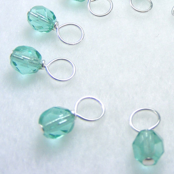 Mermaid Droplet Stitch Markers (Set of 10 - Choose Your Size)