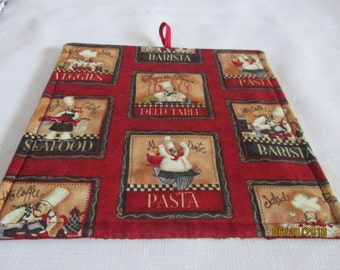 A little French, pot holder, hot pad, baking, oven, trivet, kitchen and dining, home and living, housewares, table dining room, kitchen