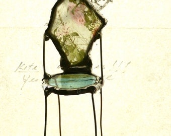 Miniature Art Chair - Moon Shine delight- One of a Kind Chair - Heirloom artifact -