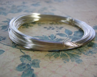 Silver Filled Wire Copper Core Tarnish Resistant Half Hard Round Wire 14 To 26 Gauge COILED