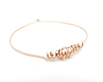 Copper Bangle Bracelet, Hammered Copper Bangle, Minimalist Jewelry, Unisex Jewelry, Men's Bracelet, Copper Bangle, Copper Jewelry
