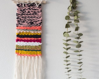Pretty in Pink - One of a Kind Handmade Weaving by Jackie Dives
