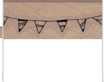 banner bunting stamps  birthday triangle banners    rubber stamps    19917 stamp stamping supplies