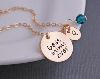 Mimi Jewelry, Custom Necklace for Mimi, Gold Personalized Necklace for Mimi for Mother's Day Gift