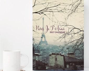 2017 Calendar, Paris Calendar, 5x7 Desk Calendar, Paris Photography, Gift Under 20, Hostess Gift