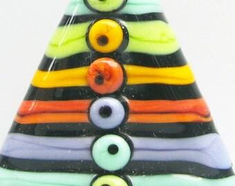 Rainbow Triangle Focal--Handmade Lampwork Glass Bead