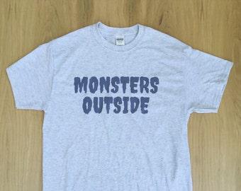 Monsters Outside Logo Tee Shirt