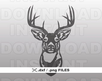 Buck Head Deer Hunting DXF File,Deer DXF File-dxf & png Vector Clip Art for Commercial/Personal Use-Cricut,Silhouette,Cameo,Vinyl,Cut File