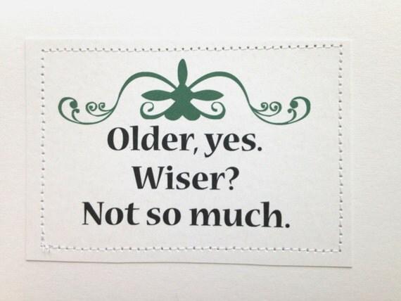 Older wiser dating