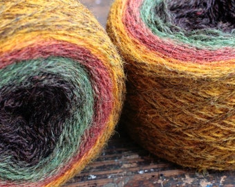 Pure wool knitting yarn - 2 x 100 g