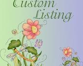 Custom order felt embellishments