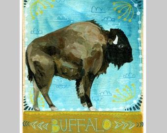 Animal Totem Print - Buffalo