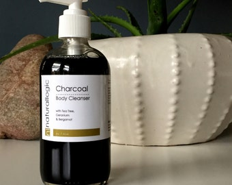 CHARCOAL Body Cleanser. Body Wash. Body Soap. Activated Charcoal. Detox Soap. Natural Organic Chemical Free Non Toxic Skin Care. Vegetarian.