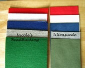 Ultrasuede and Nicole's BeadBacking Bead and Craft Foundation Red White Blue art suppliesQ116