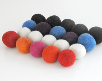 Fabric Laundry Softener 100% Wool Dryer Balls / Hypo-Allergenic No Chemicals / Hand Felted / READY TO SHIP