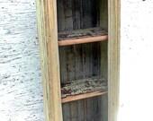 Display Shelf, Reclaimed Wood Furniture, CD Shelf, Rustic Furniture,DVD Storage, Distressed Book Shelf, Country Decor, Recycled Wood Decor