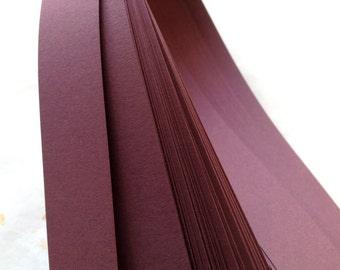 """1/2"""" Weaving Star Paper~ Burgundy (50 strips)"""