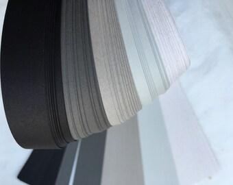 "1/4"" Weaving Paper Strips~ Greys (100 strips)"
